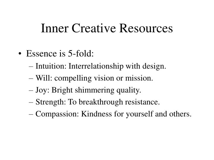 Inner Creative Resources