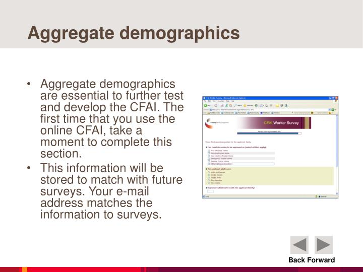 Aggregate demographics