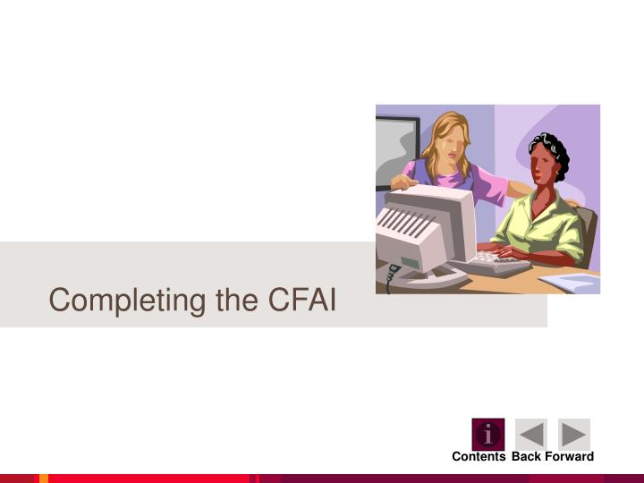 Completing the CFAI