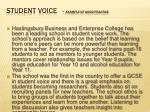 student voice example of good practice