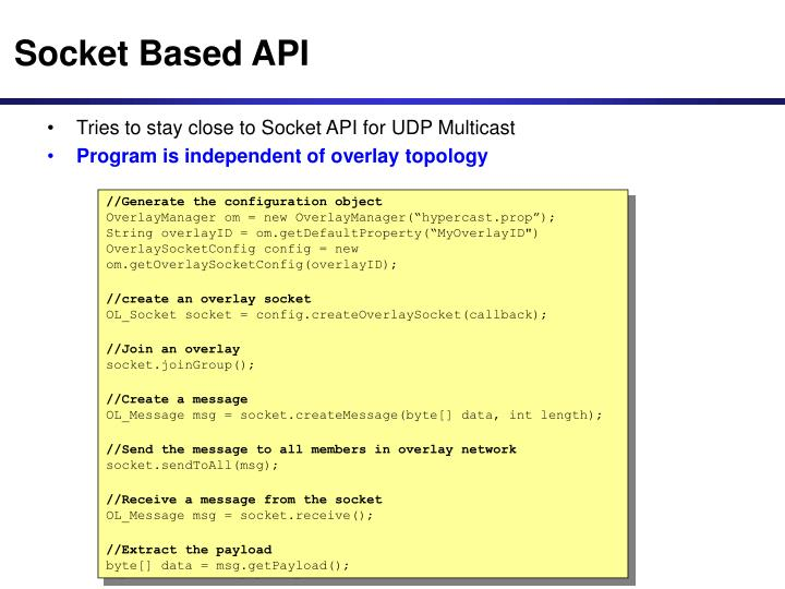 Socket Based API