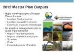 2012 master plan outputs
