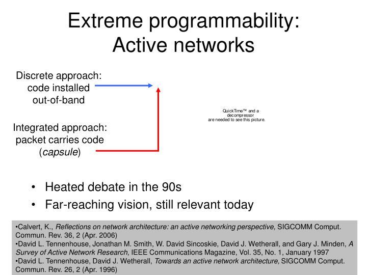 Extreme programmability:
