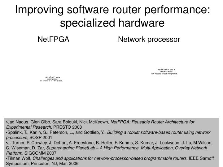 Improving software router performance: