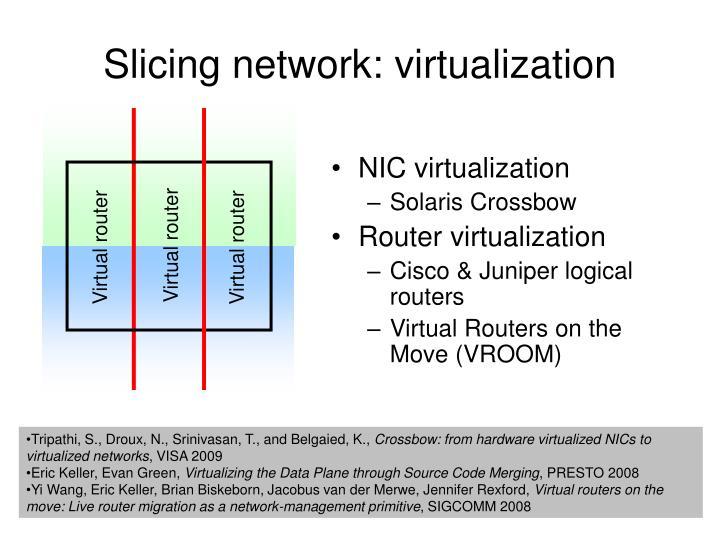 Slicing network: virtualization