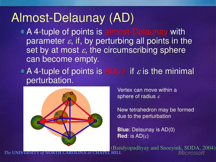 Almost-Delaunay (AD)
