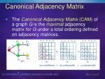canonical adjacency matrix