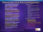 references and acknowledgement