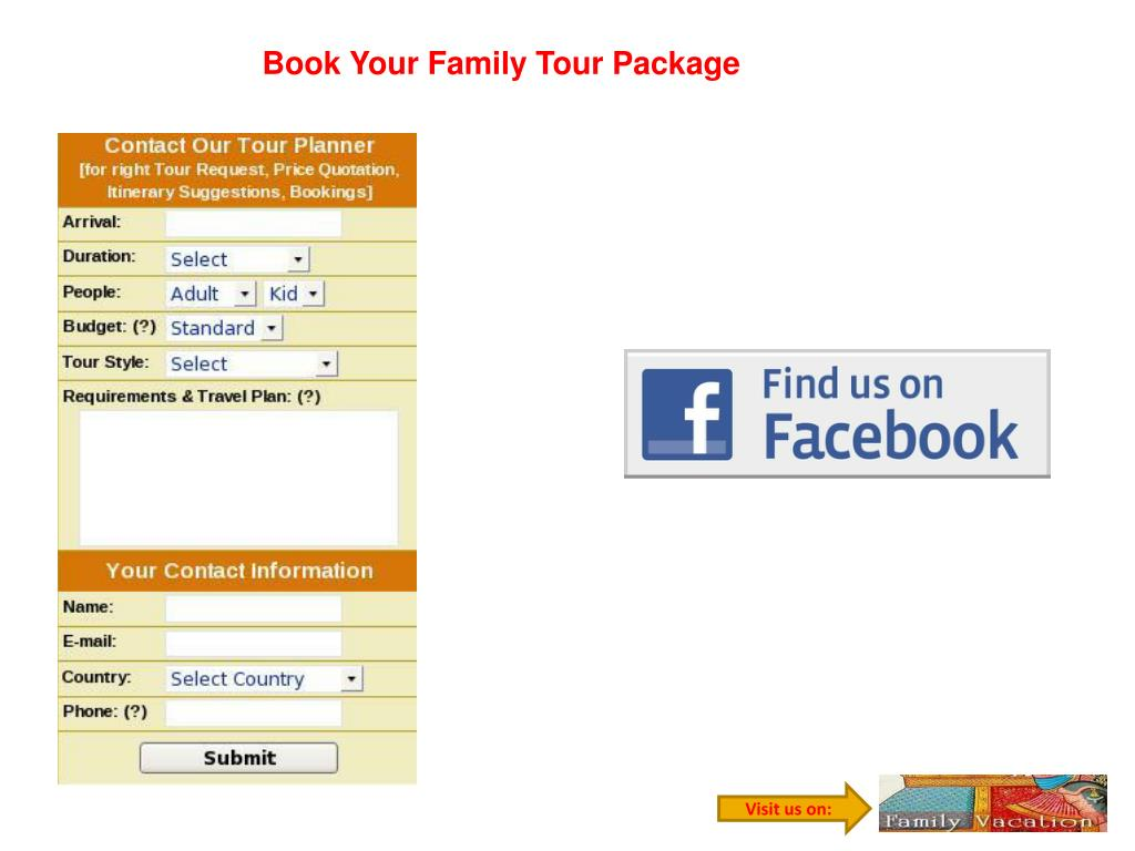 Book Your Family Tour Package