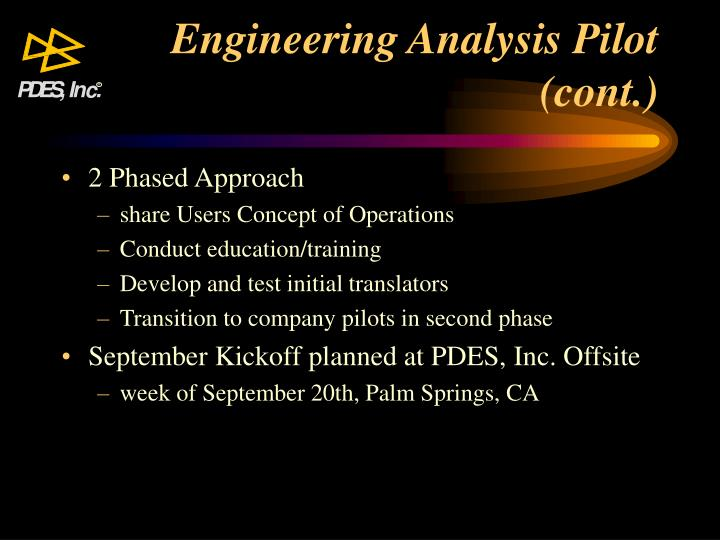 Engineering Analysis Pilot