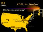 pdes inc members