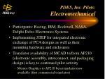 pdes inc pilots electromechanical