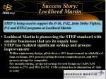 success story lockheed martin