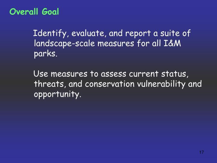 Overall Goal