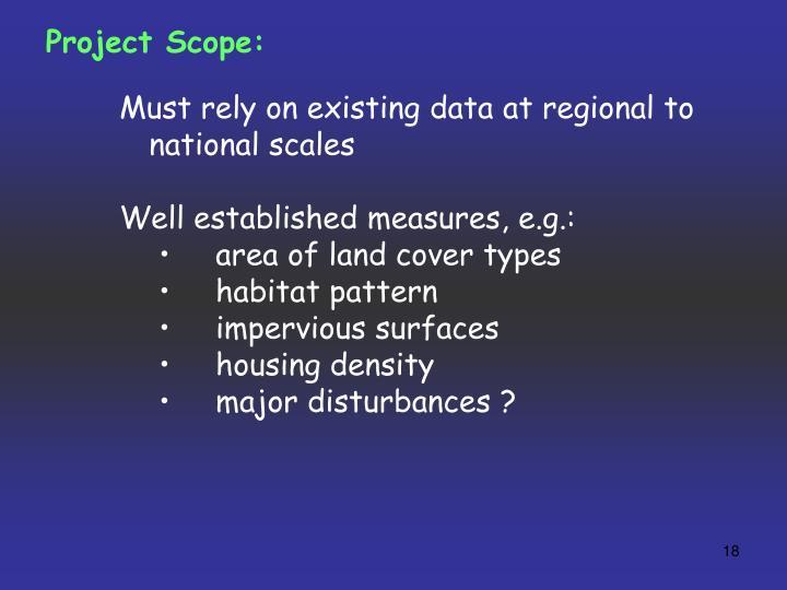 Project Scope: