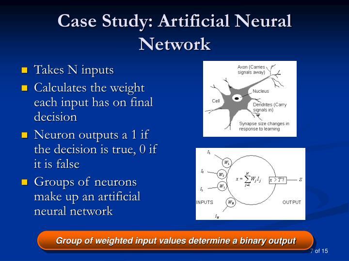 Case Study: Artificial Neural Network