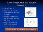 case study artificial neural network