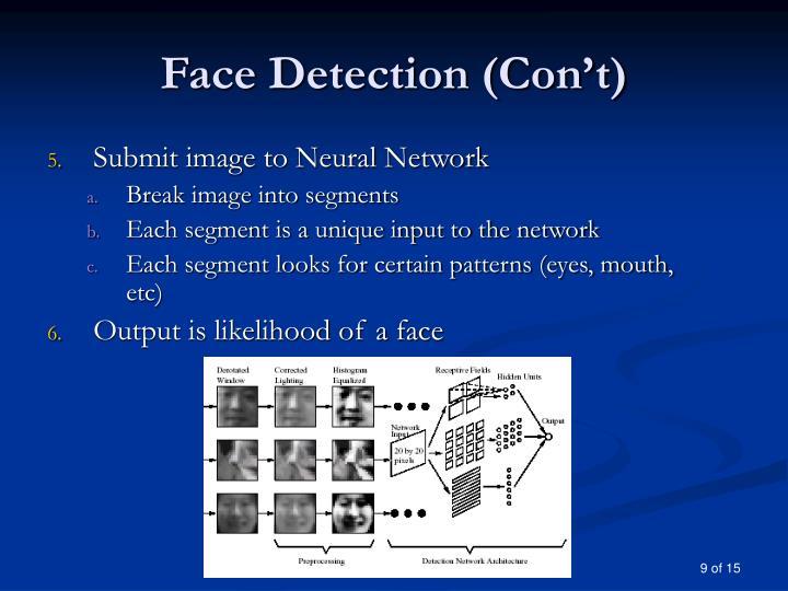 Face Detection (Con't)