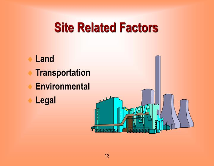 Site Related Factors