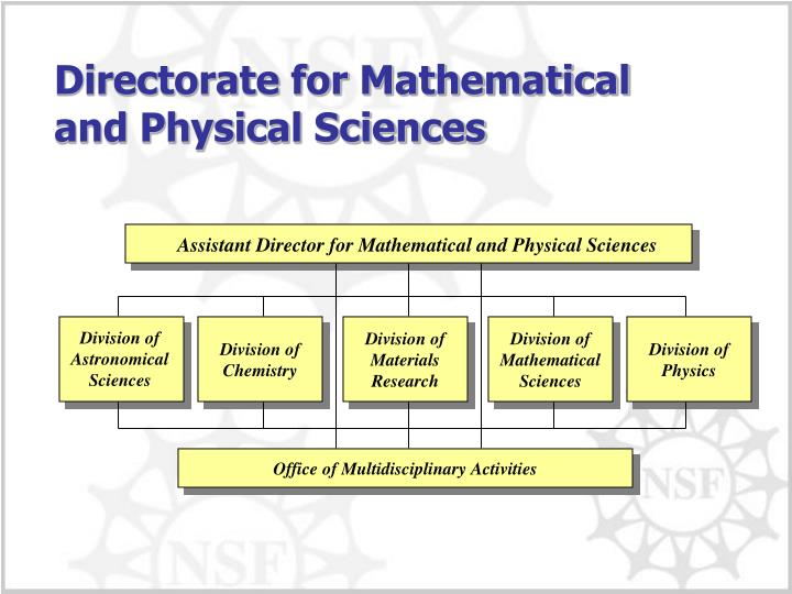 Assistant Director for Mathematical and Physical Sciences