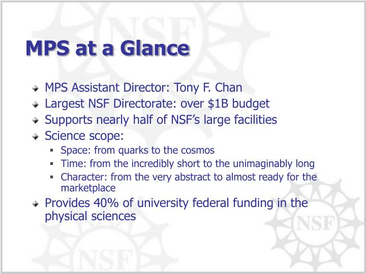 MPS at a Glance