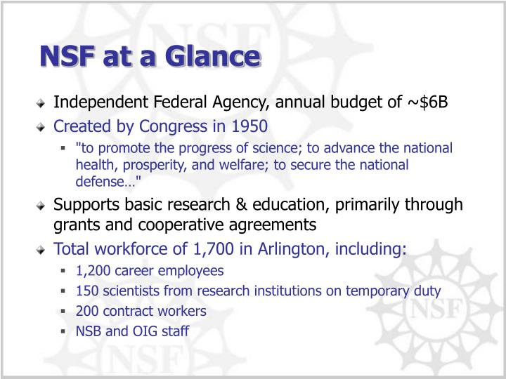 Independent Federal Agency, annual budget of ~$6B