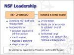 nsf leadership