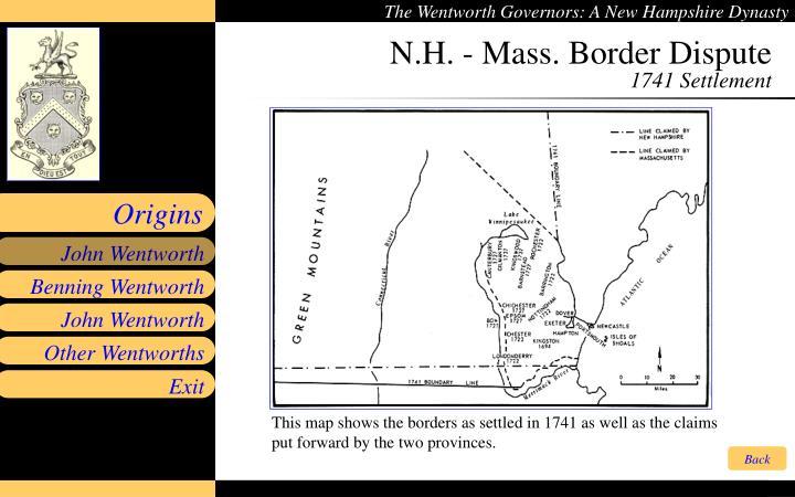 N.H. - Mass. Border Dispute