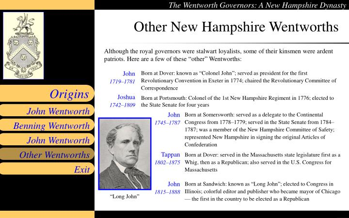 Other New Hampshire Wentworths