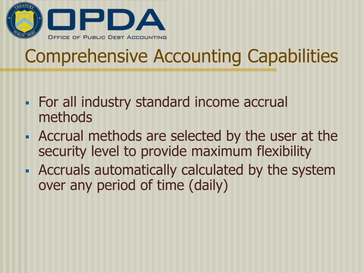 Comprehensive Accounting Capabilities