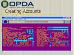 creating accounts