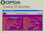 creating cr securities