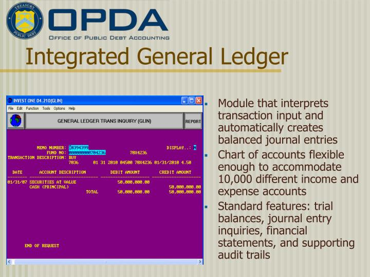 Integrated General Ledger