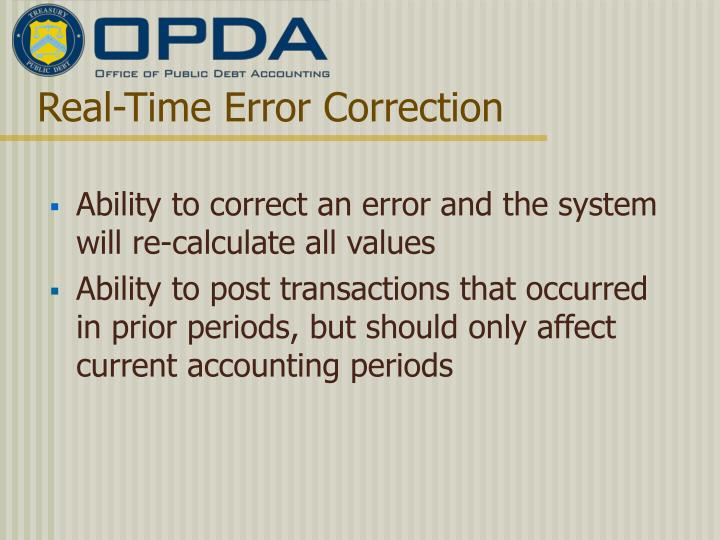 Real-Time Error Correction