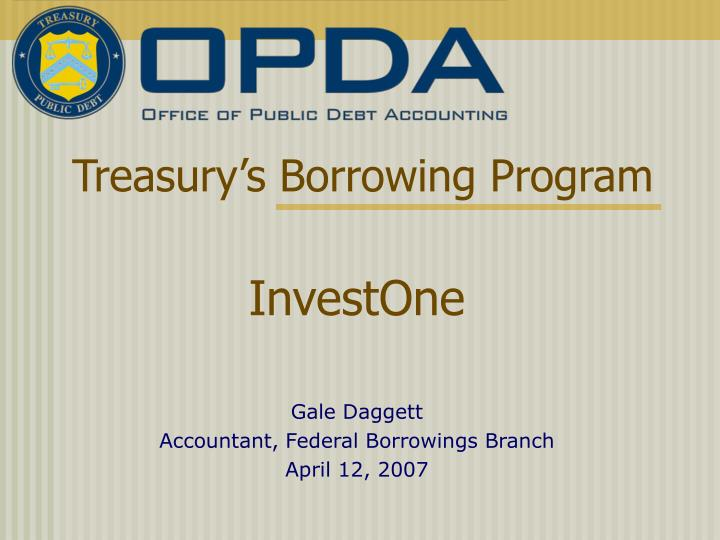 Treasury s borrowing program