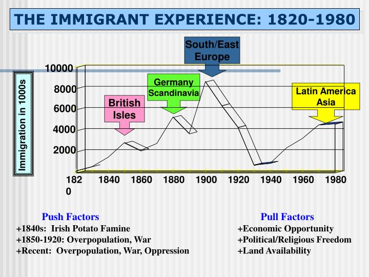 THE IMMIGRANT EXPERIENCE: 1820-1980