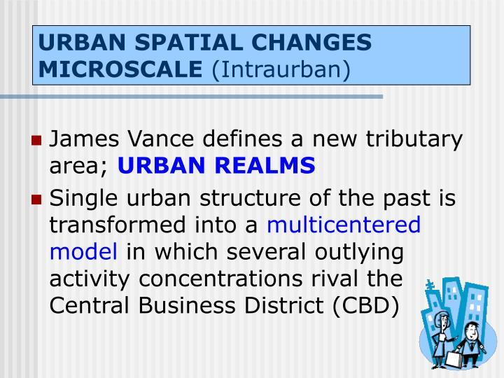 URBAN SPATIAL CHANGES