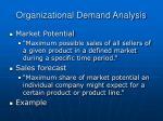 organizational demand analysis1