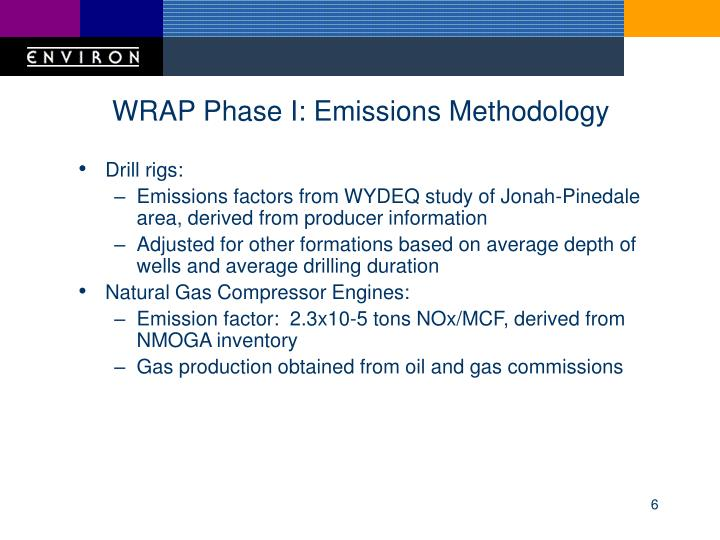 WRAP Phase I: Emissions Methodology