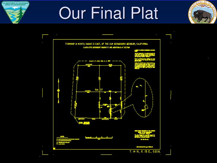 Our Final Plat