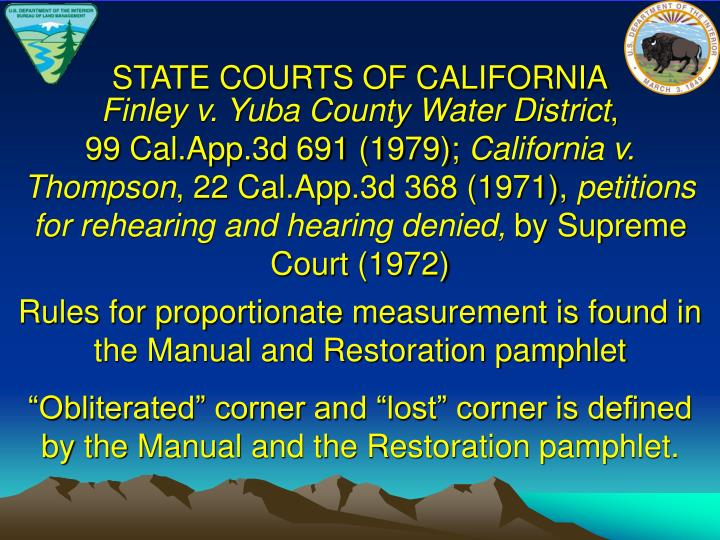 STATE COURTS OF CALIFORNIA