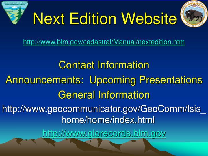 Next Edition Website