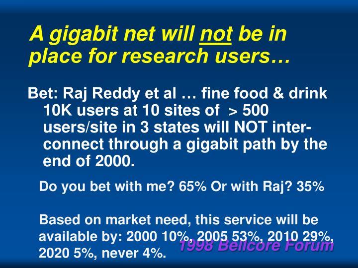 A gigabit net will