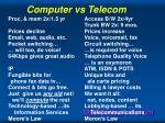 computer vs telecom