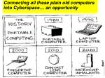 connecting all these plain old computers into cyberspace an opportunity