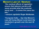moron s law cf newton