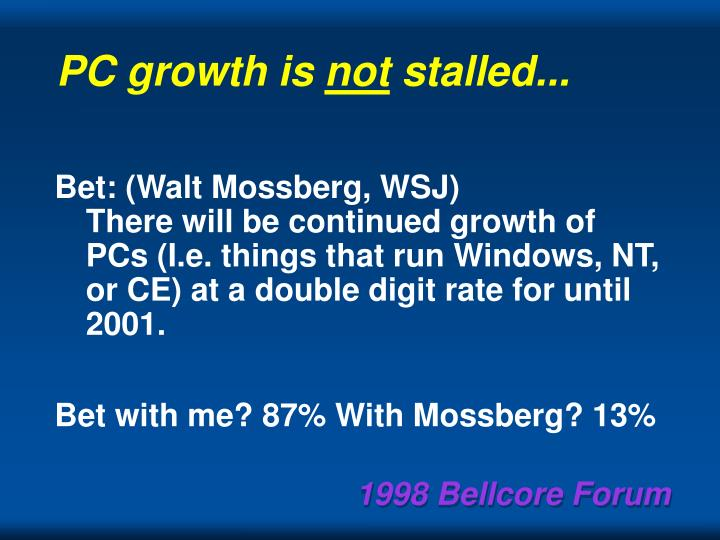 PC growth is