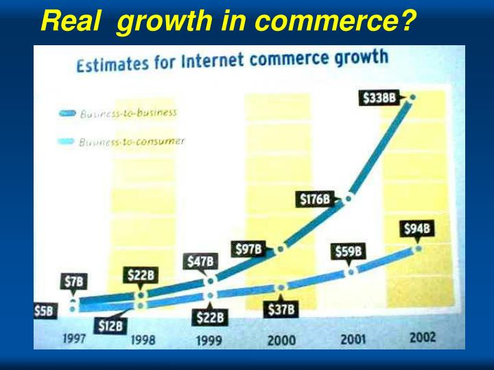 Real  growth in commerce?