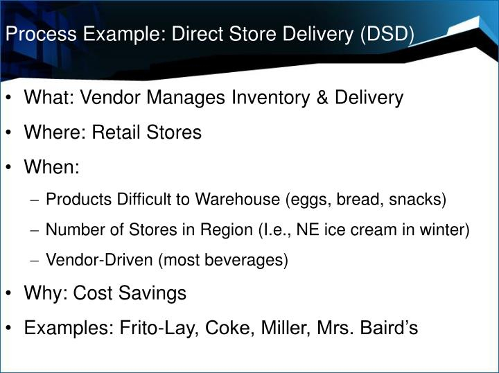 Process Example: Direct Store Delivery (DSD)
