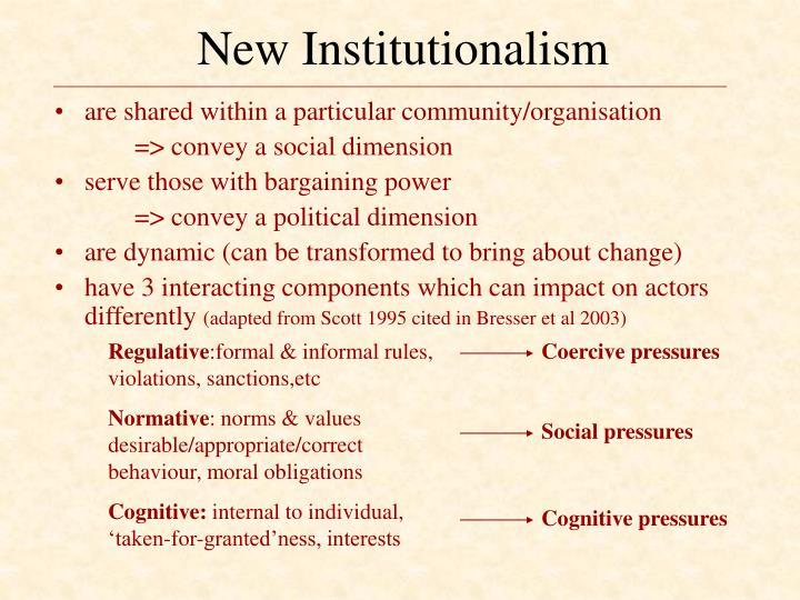 New Institutionalism